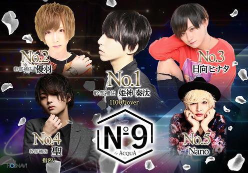 歌舞伎町ホストクラブNo9のイベント「2月度ナンバー」のポスターデザイン