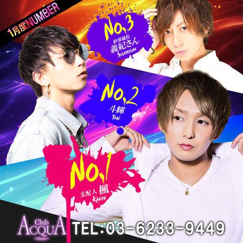 歌舞伎町ホストクラブDRIVEのイベント「1月度ナンバー」のポスターデザイン