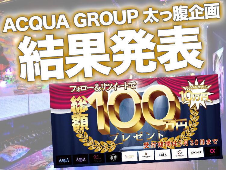 現金GETか?ACQUA GROUP総額100万円企画 結果発表!のアイキャッチ画像
