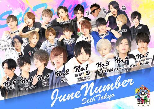 歌舞伎町ホストクラブSETH TOKYOのイベント「6月度ナンバー」のポスターデザイン
