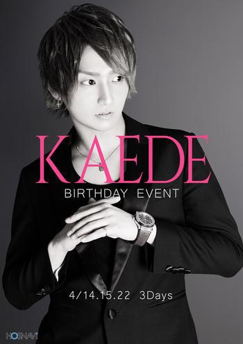 歌舞伎町ホストクラブDRIVEのイベント「楓バースデー」のポスターデザイン