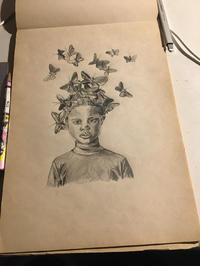 こんにちは!昨日から花粉症に苦しんでいます🤣これは私の友達が書いた絵ですが、なかなか独創的で上手で…の写真