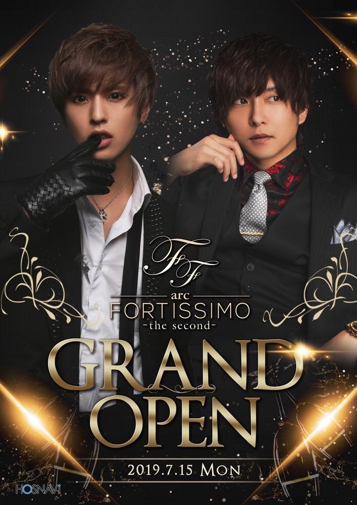 歌舞伎町arc -FORTISSIMO the second-のイベント「グランドオープン」のポスターデザイン