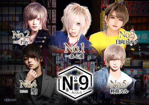 歌舞伎町ホストクラブNo9のイベント「3月度ナンバー」のポスターデザイン
