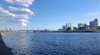 気分転換に多摩川の河川敷の写真