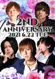 arc -PIANISSIMO-のイベント「2周年」のポスターデザイン