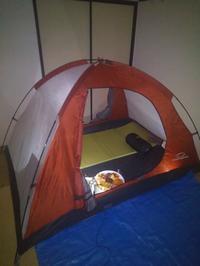 インドアキャンプの写真