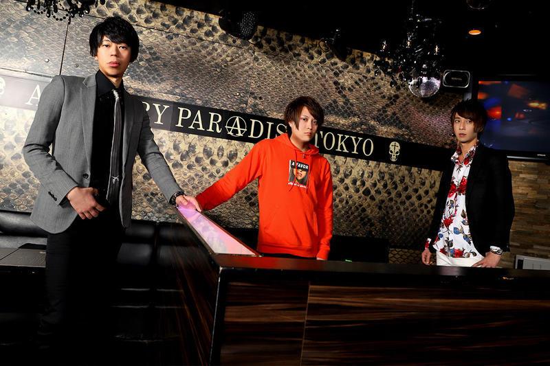 立川ホストクラブ「ラグパラ」メインホスト3人でキメる